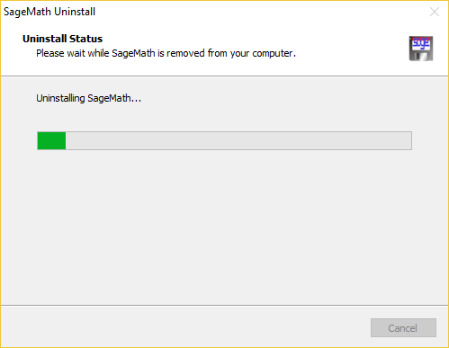 Sage for Windows Uninstaller