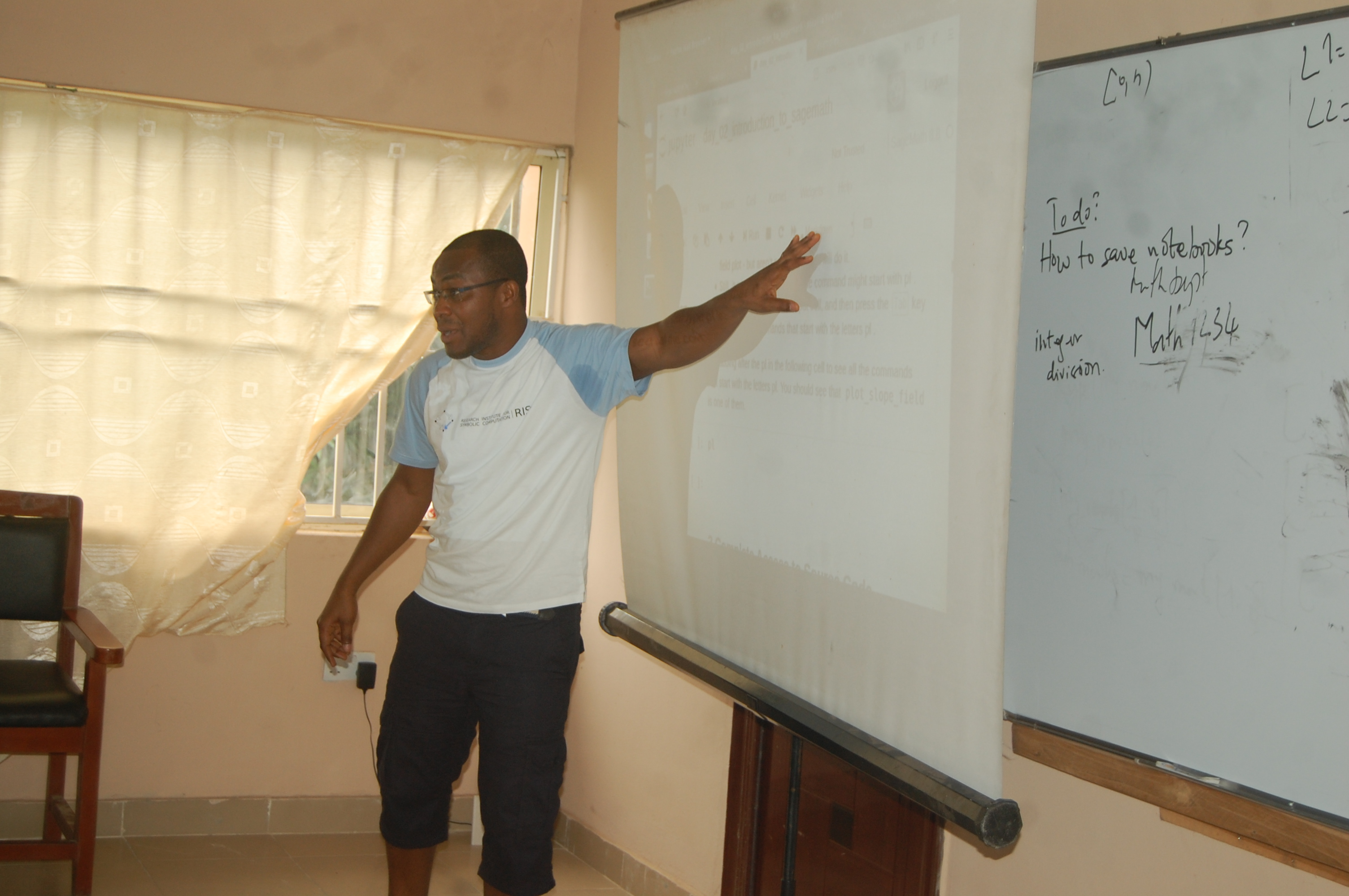 Evans teaches introduction to Sage